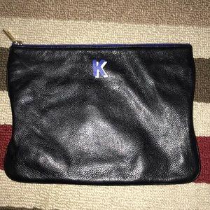 Rebecca Minkoff  Black Leather Zippy Pouch 😘